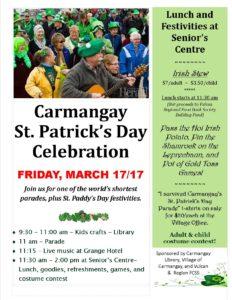 Carmangay St. Patrick's Day Celebration @ Carmangay | Alberta | Canada